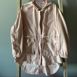 Blush High-Low Hooded Jacket